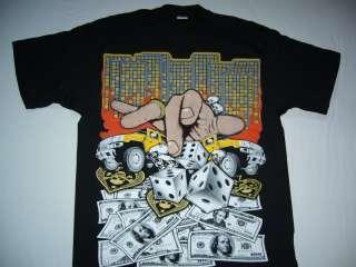 Hip Hop Rap Gambler gansta men t shirt 2XL Black new