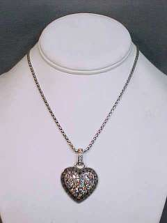 NEW Brighton Crystal Voyages Silver Tone Heart Necklace w/ Pendant