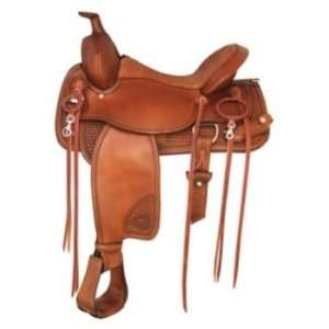 Tex Tan TNT Trail Blazer Western Saddle 16In Pecan Pet