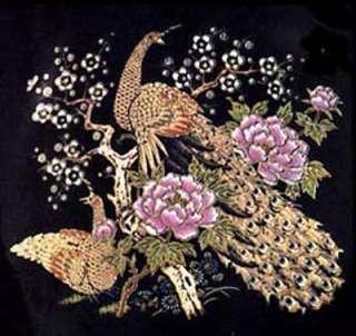 Oriental Peacock Pink Flower Gold 4 Ceramic Decals