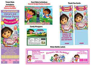Explorer Go Diego Go Birthday Party Ticket Invitations Supplies Favors