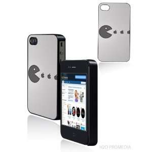 Apple Logo Pac Man   Iphone 4 Iphone 4s Hard Shell Case
