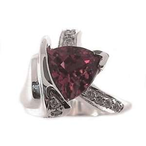 2.62ct. Triangle Shape Pink Tourmaline, Diamond Gemstone