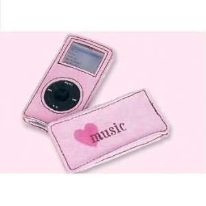 Think Pink Love Hearts Suede heart nano ipod case Toys & Games
