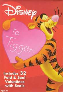 Disney TIGGER 32 Valentines Day Cards NEW