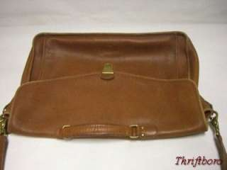 Vintage COACH Brown Leather Briefcase Messenger Laptop Bag Mens Womens