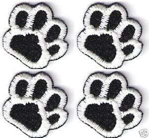 Lot of 4 Dog Animal Paw Print Embroidery Applique Patch