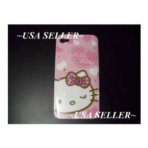 Iphone 4 Hello Kitty Hard Case Cover ~Usa Seller~ (Att