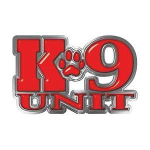 Reflective K9 Unit with Dog Paw Law Enforcement Decal in Red   11.5 h