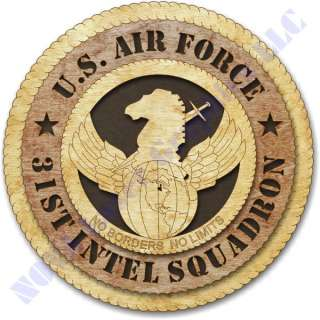 Air Force 31st Intel Squadron Birch Wall Plaque