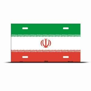 Iran Flag License Plate Wall Sign Tag Automotive
