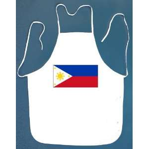 Philippine Flag BBQ Barbeque Apron with 2 Pockets