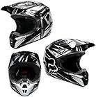 2012 Fox V1 Helmet UNDERTOW BLACK/White Off Road MX Moto Full Face DOT