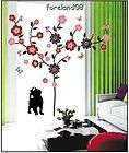 lovely cat flowers tree wall stickers wallp aper room store