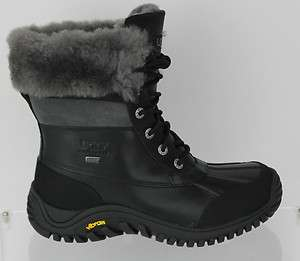 UGG WOMENS ADIRONDACK BOOT II BLACK / GREY