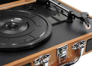 NEW Pyle Retro Belt Drive Turntable W/ 2 Built in Speakers USB to PC