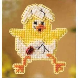 Spring Chick Spring Bouquet Pin Kit (cross stitch & beads