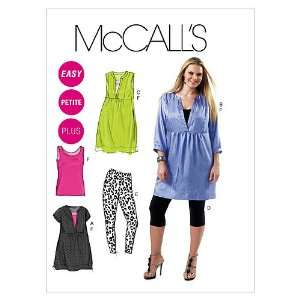 McCalls Patterns M6364 Womens/Womens Petite Tunics, Dress, Leggings