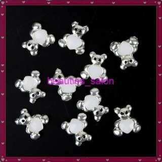 10 pcs Cute Heart Bear Shape 3D Nail art Sticker Nail decoration decal
