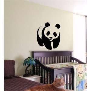 PANDA BEAR KIDS WALL ART STICKER BABY ROOM NURSERY 01