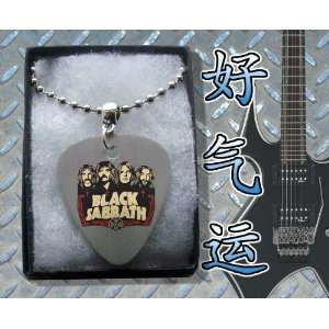 Black Sabbath Faces Metal Guitar Pick Necklace Boxed