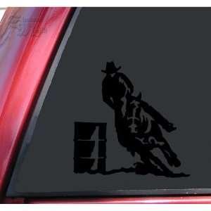 Barrel Racer Racing Rodeo Vinyl Decal Sticker   Black