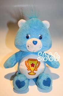 Care Bear 2003 Champ 8 Trophy Blue Plush Teddy Star Winning Winner