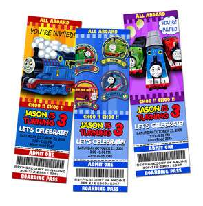THOMAS THE TANK TRAIN BIRTHDAY PARTY INVITATION TICKET 1st   9 NEW