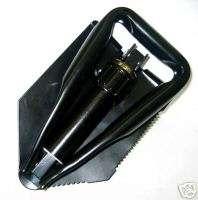 Tri Fold Shovel W/Pouch Compact Tough E Tool Type NIB