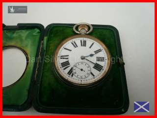Edwardian Goliath Pocket Watch in Sterling Silver Case/Holder