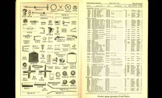 1924 FORD MODEL T Catalog  illustrated PARTS PRICE LIST