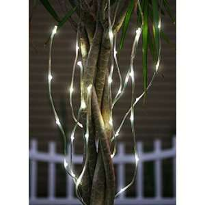 Outdoor Battery Operated White LED Branch Light   Timer