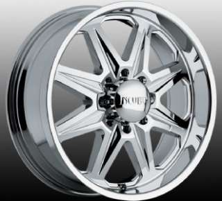 22 inch Incubus Grim chrome wheels rims 8x170 Ford