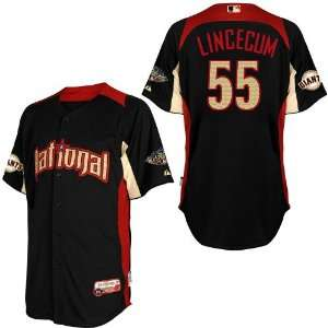 2011 All Star San Francisco Giants Authentic #55 Tim Lincecum BLUE