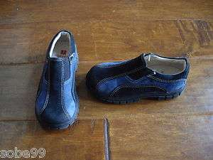 Baby Toddler Boys ELEFANTEN Navy Blue Shoes Suede Leather Loafer EUR