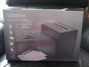 VOGUE Top Secret Shredder S150 High Security Micro Cut