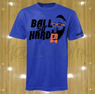 New James Harden t shirt OKC Oklahoma City Thunder tee Ball So Hard