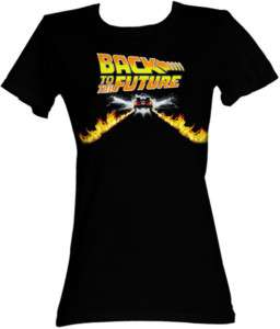BACK TO THE FUTURE BTF FLAME CAR JUNIOR TEE SHIRT
