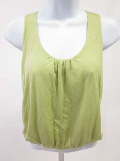 MAGGIE WARD Green Sleeveless Bubble Hem Top Shirt Sz S