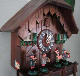 High Quality Black Forest Vintage Chalet Musical Animated Band