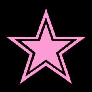 Cowboy Star Soft Pink 4 inch Logo Decals Window Sticker
