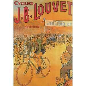 BICYCLE BIKE CYCLES J. B. LOUVET 1912 FRANCE FRENCH SMALL