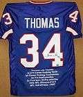 Thurman Thomas HOF Autographed Blue Buffalo Bills Stat Jersey
