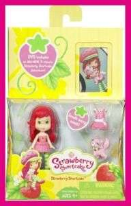 NEW STRAWBERRY SHORTCAKE Mini Strawberry Doll With DVD