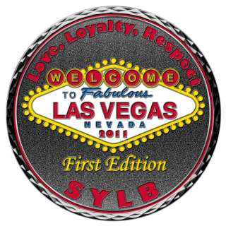 BANDIDOS MOTORCYCLE CLUB LAS VEGAS 1%ER SUPPORT CHALLENGE COIN LIMITED