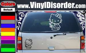 Hello Kitty14 Band Vinyl Car or Wall Decal Sticker LG