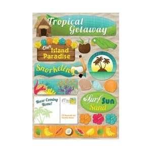 Karen Foster Tropical Vacation Cardstock Stickers 5.5X9