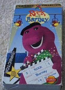 ROCK WITH BARNEY Dinosaur Vintage Classic Movie 1991 045986980816