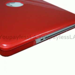 RED Crystal See Thur Hard Case Cover for Apple Macbook PRO 13