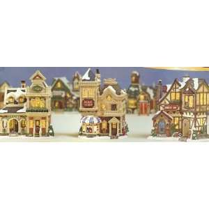 Christmas Village Collection ~ LIBRARY, GOLF SHOP & INN